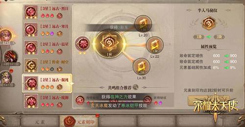 战斗效果百变《荣耀大天使》元素系统详解  第3张