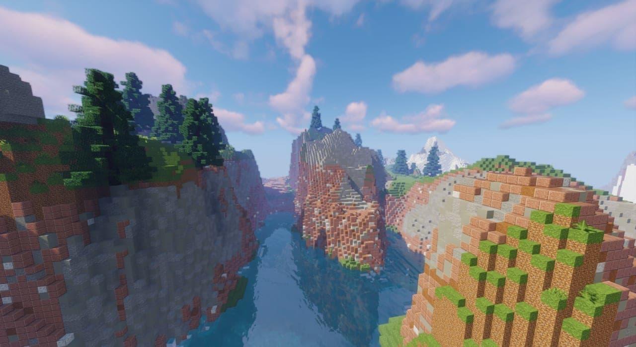 高玩在《我的世界》打造旷野之息完整地图 整体轮廓已成形  第1张