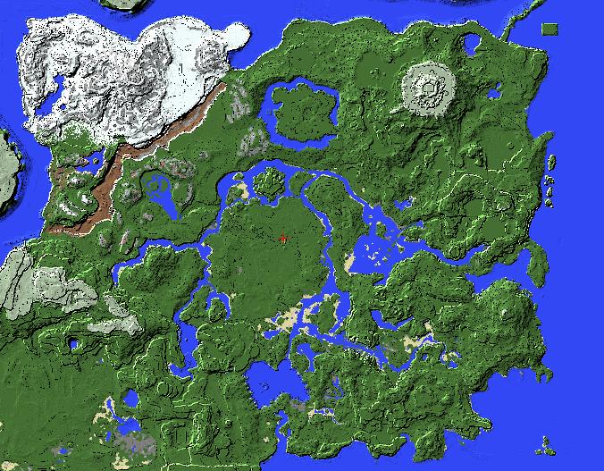 高玩在《我的世界》打造旷野之息完整地图 整体轮廓已成形  第2张