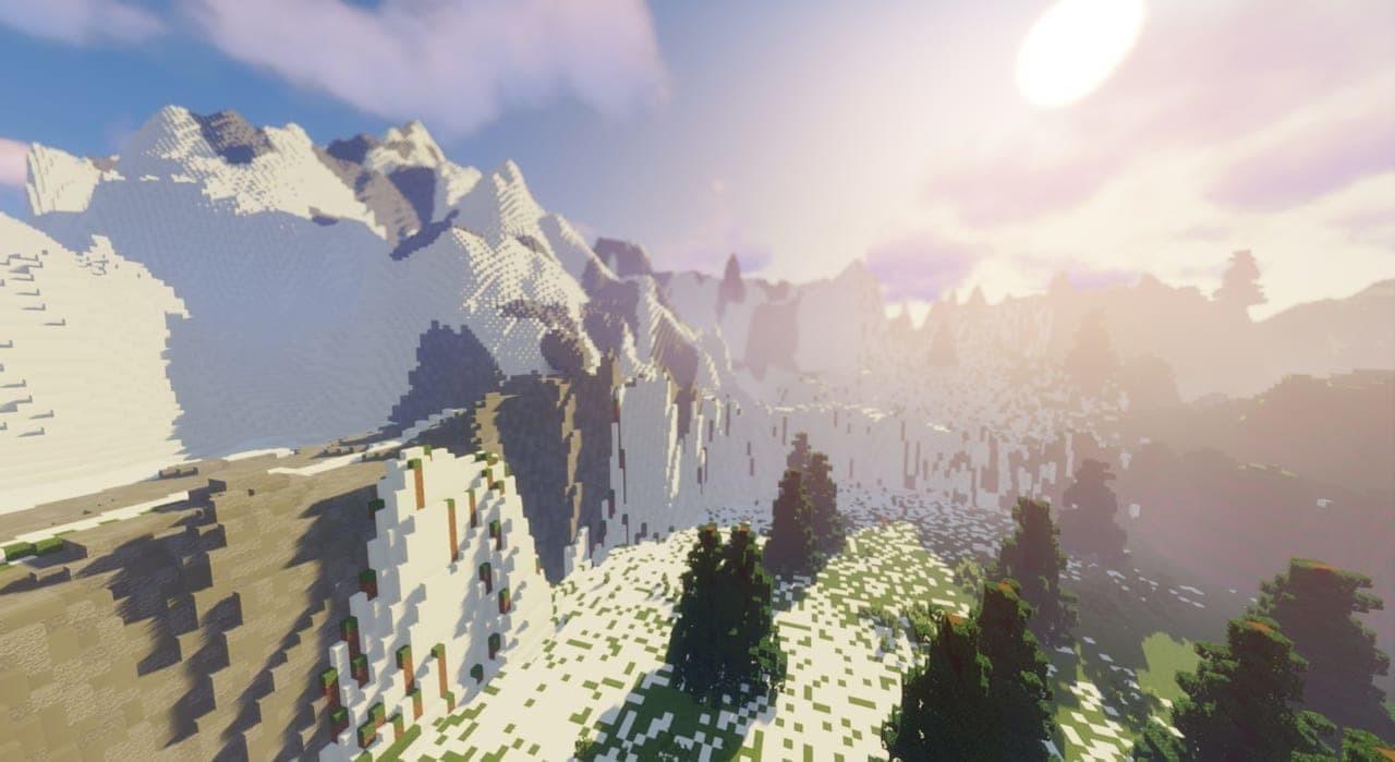 高玩在《我的世界》打造旷野之息完整地图 整体轮廓已成形  第3张