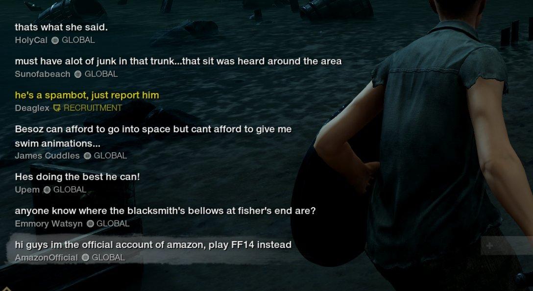 《新世界》玩家假装亚马逊官方 游戏中玩亚马逊黑梗  第5张