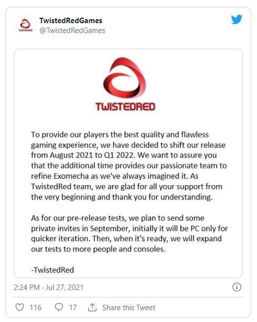 免费多人在线对抗FPS游戏《ExoMecha》官宣延期 将于2022年Q1上线  第4张