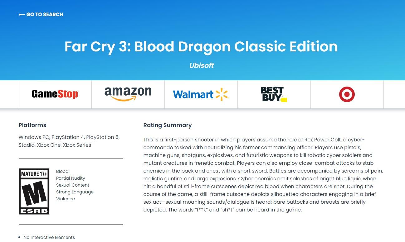 《孤岛惊魂3:血龙》经典版已通过ESRB评级  第1张