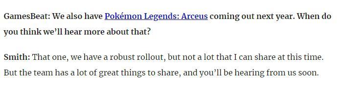 宝可梦公司:《宝可梦传说:阿尔宙斯》新消息即将到来  第2张