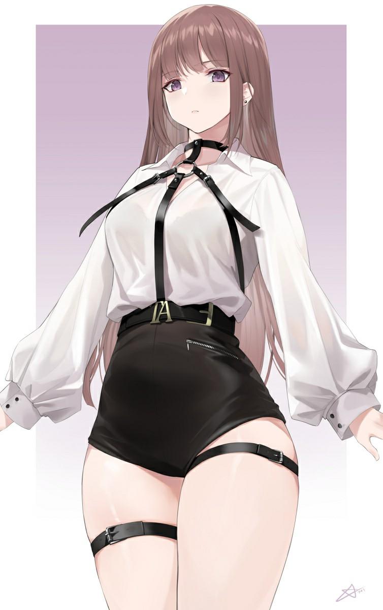 P站美图推荐——束缚背带特辑  第4张