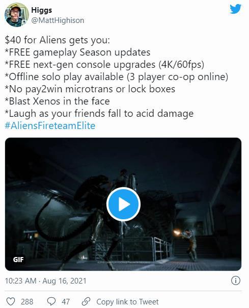《异形:火力小队》免费次时代更新 无氪金变强的内容  第1张